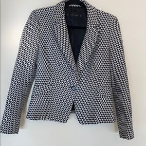 Zara Black And White Blazer